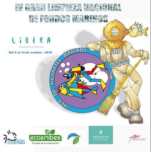 Cartel de la IV Limpieza Nacional de Fondos Marinos