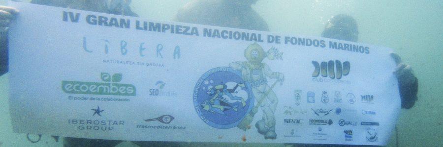 Retirados 7.500 kilos de basura en la 1ª jornada de la IV Gran Limpieza Nacional de Fondos Marinos