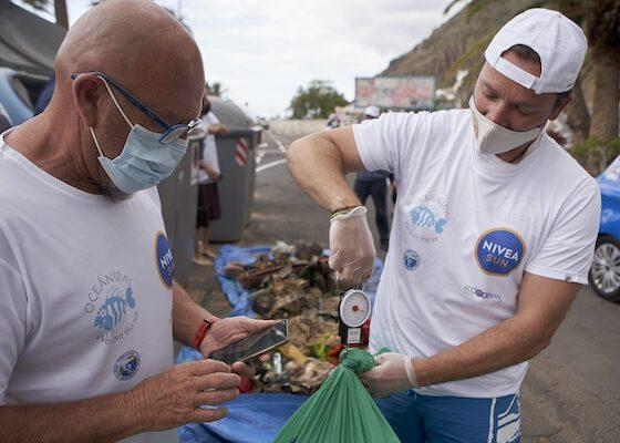 Limpieza de playa y fondos marinos en Tenerife