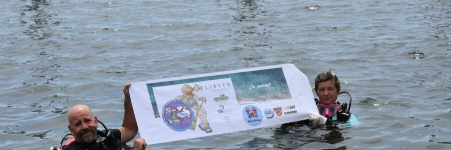 Limpieza de fondos marinos en Barcelona