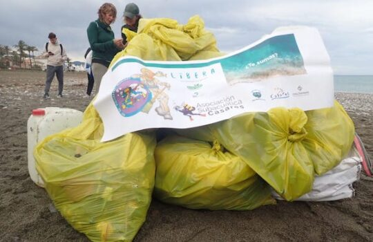 Limpieza de playa y fondos marinos en Casares – Málaga